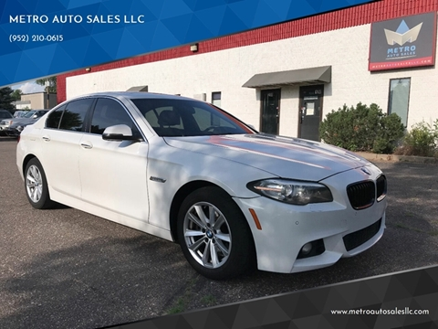 2014 BMW 5 Series for sale at METRO AUTO SALES LLC in Blaine MN