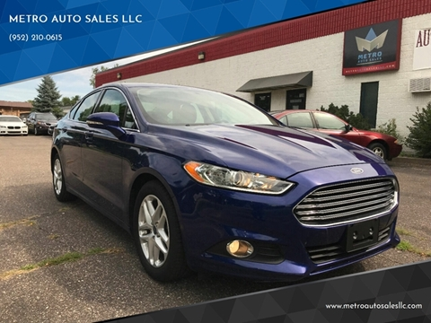 2016 Ford Fusion for sale at METRO AUTO SALES LLC in Blaine MN