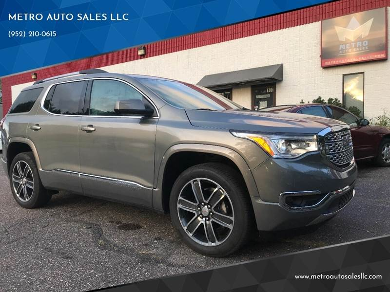 2019 GMC Acadia for sale at METRO AUTO SALES LLC in Blaine MN