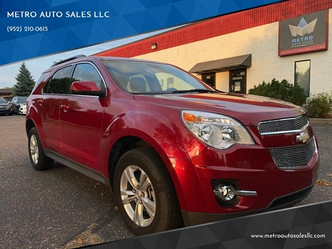2015 Chevrolet Equinox for sale at METRO AUTO SALES LLC in Blaine MN