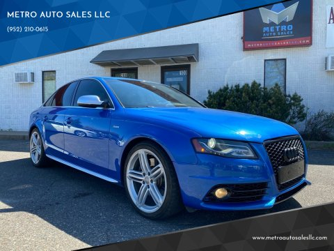 2011 Audi S4 for sale at METRO AUTO SALES LLC in Blaine MN