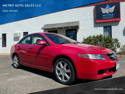 2004 Acura TSX for sale at METRO AUTO SALES LLC in Blaine MN