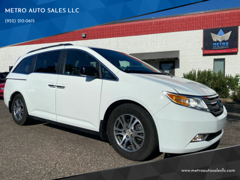 2012 Honda Odyssey for sale at METRO AUTO SALES LLC in Blaine MN