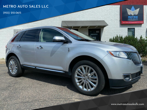 2015 Lincoln MKX for sale at METRO AUTO SALES LLC in Blaine MN
