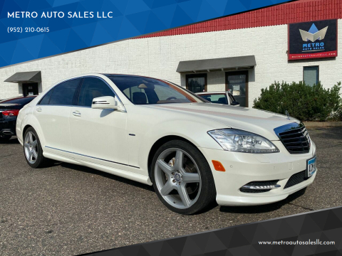 2012 Mercedes-Benz S-Class for sale at METRO AUTO SALES LLC in Blaine MN