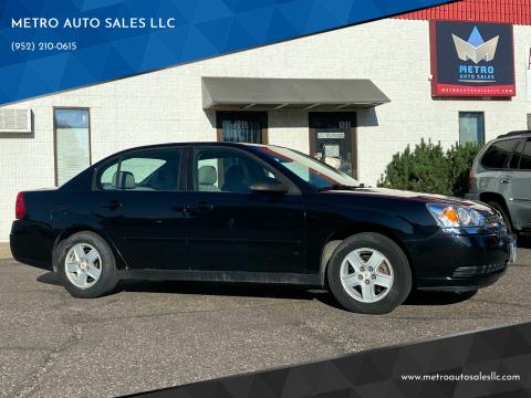 2005 Chevrolet Malibu for sale at METRO AUTO SALES LLC in Blaine MN