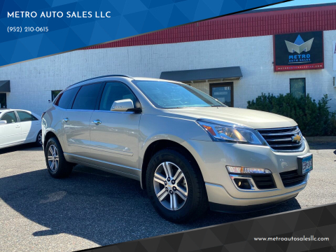 2015 Chevrolet Traverse for sale at METRO AUTO SALES LLC in Blaine MN