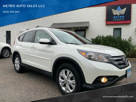 2013 Honda CR-V for sale at METRO AUTO SALES LLC in Blaine MN