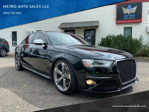 2014 Audi S4 for sale at METRO AUTO SALES LLC in Blaine MN