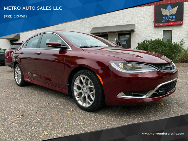2016 Chrysler 200 for sale at METRO AUTO SALES LLC in Blaine MN