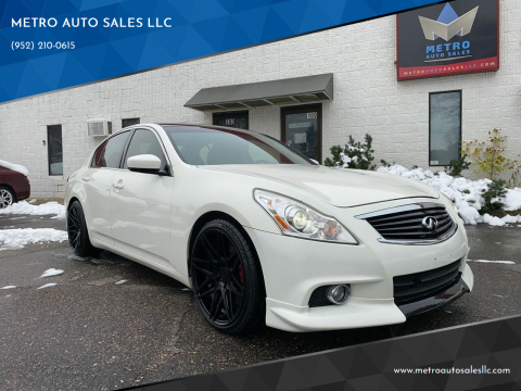 2012 Infiniti G37 Sedan for sale at METRO AUTO SALES LLC in Blaine MN