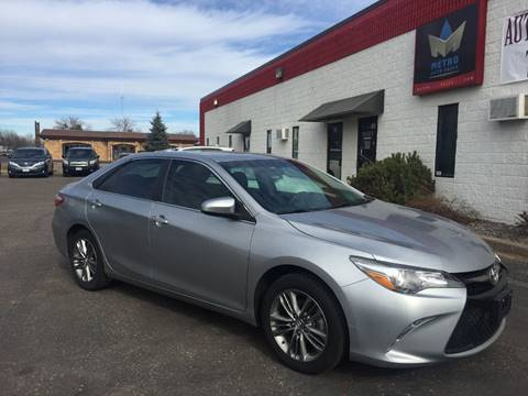 2015 Toyota Camry for sale at METRO AUTO SALES LLC in Blaine MN