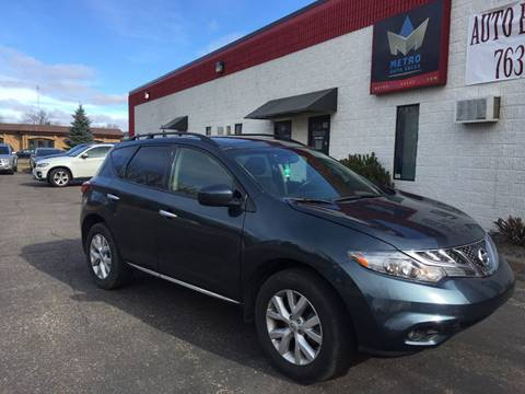 2013 Nissan Murano for sale at METRO AUTO SALES LLC in Blaine MN