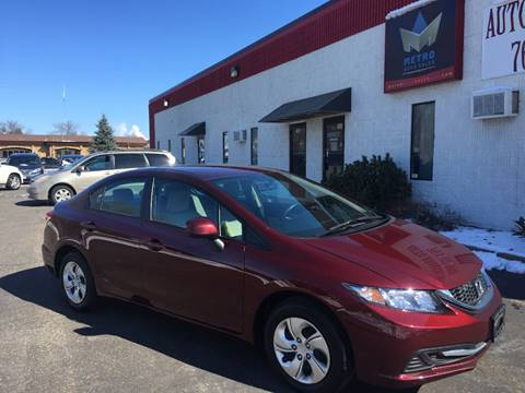 2014 Honda Civic for sale at METRO AUTO SALES LLC in Blaine MN