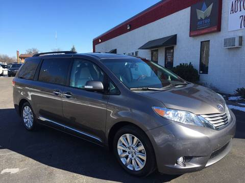 2014 Toyota Sienna for sale at METRO AUTO SALES LLC in Blaine MN