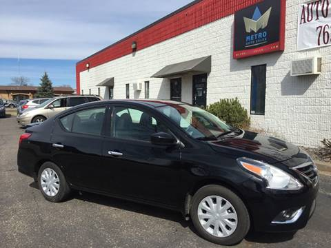 2016 Nissan Versa for sale at METRO AUTO SALES LLC in Blaine MN