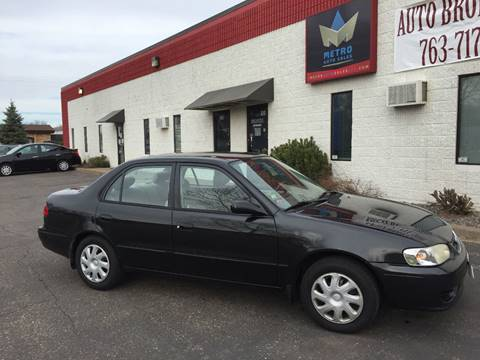2001 Toyota Corolla for sale at METRO AUTO SALES LLC in Blaine MN
