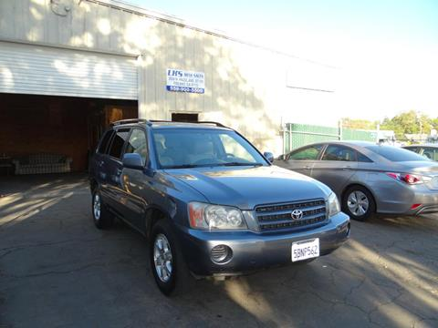 2003 Toyota Highlander for sale at LKS Auto Sales in Fresno CA