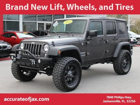 2016 Jeep Wrangler Unlimited for sale in Jacksonville, FL