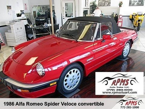 1986 Alfa Romeo Spider for sale in Stuart, FL