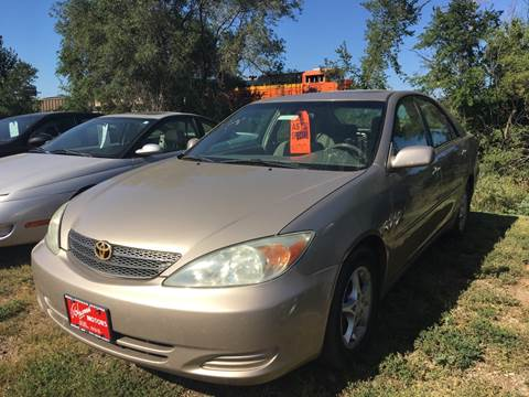 2003 Toyota Camry for sale at BARNES AUTO SALES in Mandan ND
