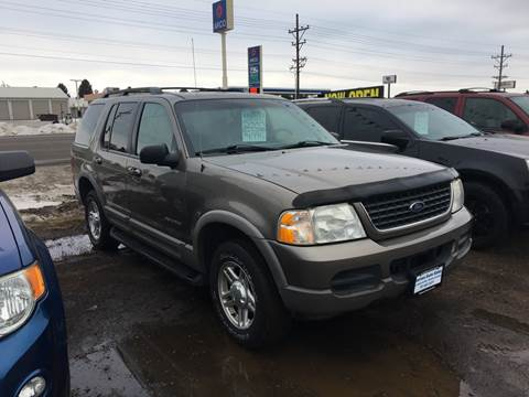 2002 Ford Explorer for sale at BARNES AUTO SALES in Mandan ND
