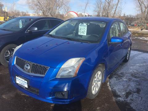 2010 Nissan Sentra for sale at BARNES AUTO SALES in Mandan ND