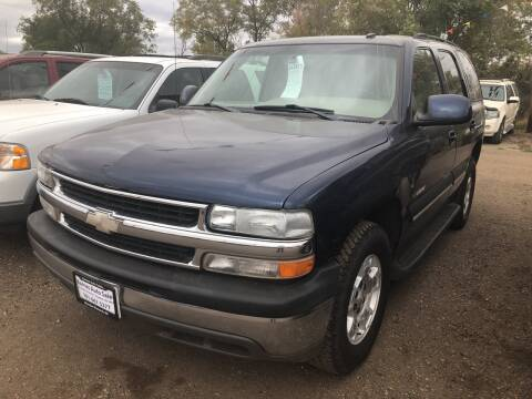 2003 Chevrolet Tahoe for sale at BARNES AUTO SALES in Mandan ND