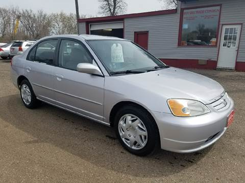 2002 Honda Civic for sale at BARNES AUTO SALES in Mandan ND