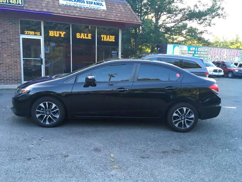 2014 Honda Civic for sale at D & M Discount Auto Sales in Stafford VA
