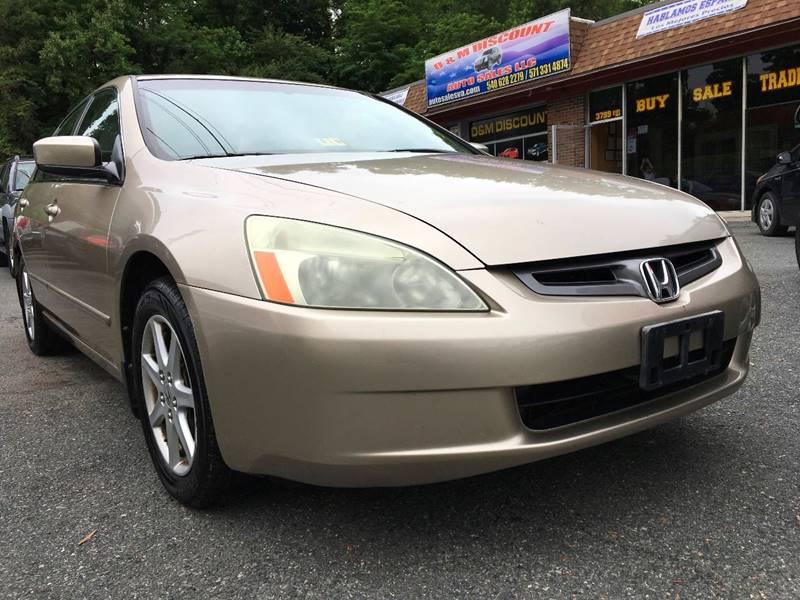 Elegant 2004 Honda Accord For Sale At D U0026 M Discount Auto Sales In Stafford VA