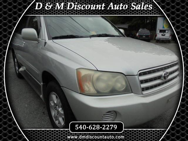 2002 Toyota Highlander for sale at D & M Discount Auto Sales in Stafford VA