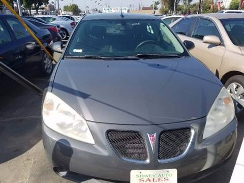 2008 Pontiac G6 for sale at Sidney Auto Sales in Downey CA