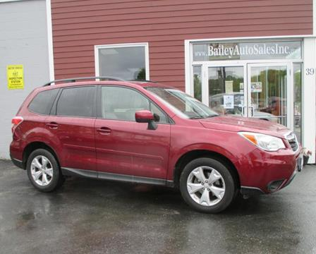 2015 Subaru Forester for sale at Percy Bailey Auto Sales Inc in Gardiner ME