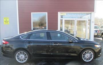 2013 Ford Fusion for sale at Percy Bailey Auto Sales Inc in Gardiner ME