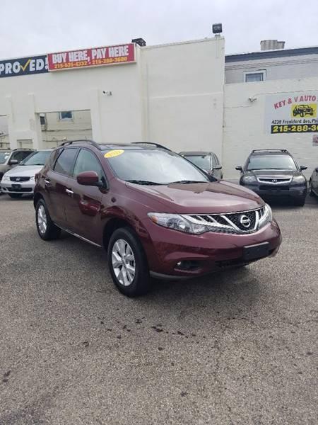2012 Nissan Murano for sale at Key & V Auto Sales in Philadelphia PA