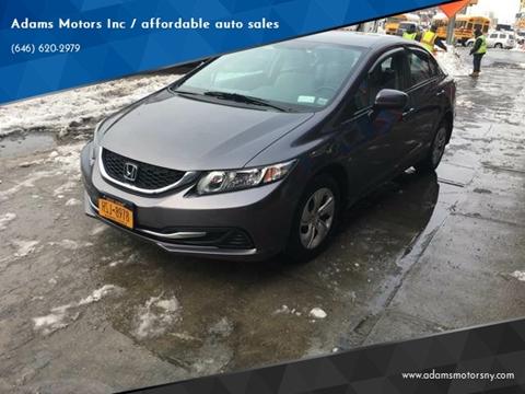 2015 Honda Civic for sale at Adams Motors INC. in Inwood NY