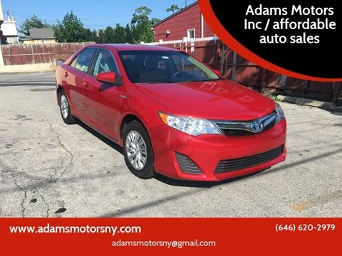 2012 Toyota Camry Hybrid for sale at Adams Motors INC. in Inwood NY