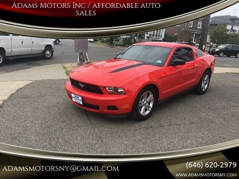 2012 Ford Mustang for sale at Adams Motors INC. in Inwood NY