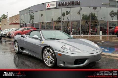 2001 Ferrari 360 Spider for sale in Anaheim, CA