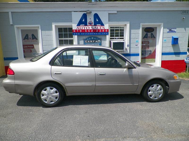 2001 Toyota Corolla For Sale At Au0026A Auto Sales Llc In Fuquay Varina NC