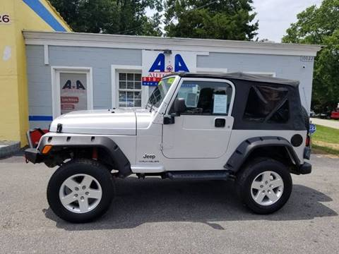 2003 Jeep Wrangler for sale in Fuquay Varina, NC