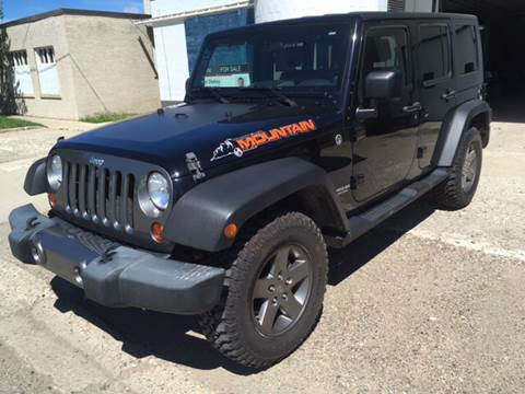 2010 Jeep Wrangler Unlimited for sale at Canuck Truck in Magrath AB