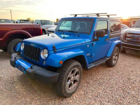2016 Jeep Wrangler for sale at Canuck Truck in Magrath AB