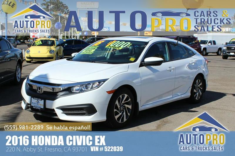 2016 Honda Civic For Sale At Auto Pro Cars U0026 Trucks Sales In Fresno CA