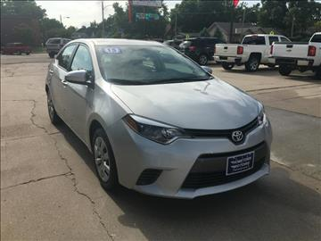 2015 Toyota Corolla for sale at HOMETOWN MOTORS in Mcpherson KS