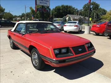 1983 Ford Mustang for sale at HOMETOWN MOTORS in Mcpherson KS