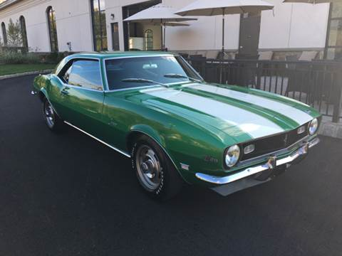 1968 Chevrolet Camaro for sale at Shedlock Motor Cars LLC in Warren NJ