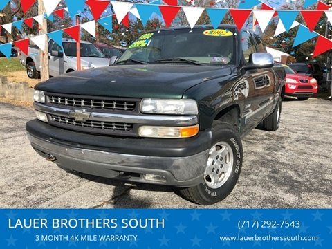 2002 Chevrolet Silverado 1500 for sale at LAUER BROTHERS SOUTH in York PA