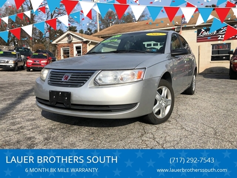 2007 Saturn Ion for sale at LAUER BROTHERS SOUTH in York PA